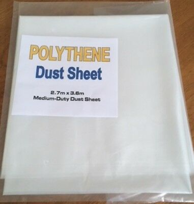 Large Polythene Plastic Dust Sheet Cover DIY Decorators Painting Decorating TWO