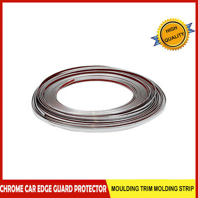 Chrome Moulding Trim Strip Car Door Edge Scratch Protector Cover 15M 6mm AU
