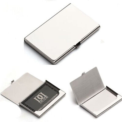Business Name Credit ID Card Holder Box Metal Stainless Steel Pocket Box Case LK