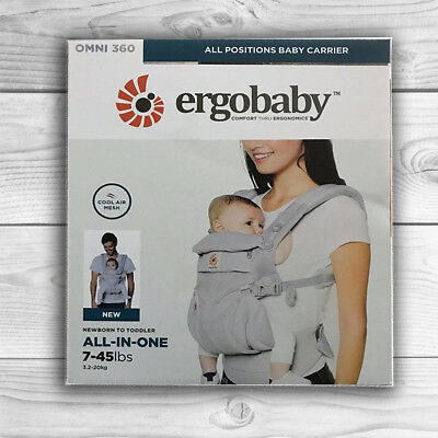 NEW! ERGOBABY 360 OMNI COOL AIR MESH ERGO BABY Carrier. AUTHENTIC. 5 COLORS!