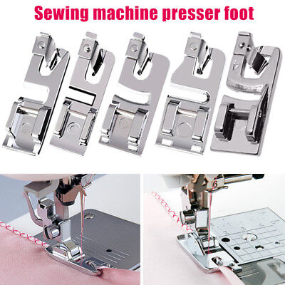 Sewing Machine Rolled Hemmer Hem Foot Brother Presser 3mm 4mm 6mm AU