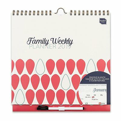 Boxclever Press Family Weekly Planner Calendar 2019 - Womens Gift Idea