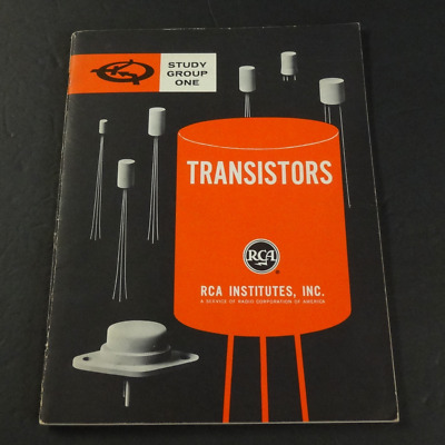 RARE Vintage 1961 RCA Institutes TRANSISTORS Study Group One  guide lessons book