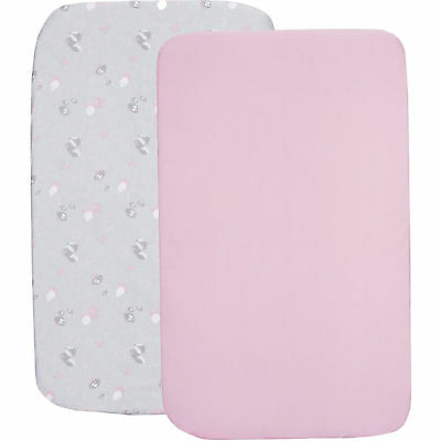Chicco Princess Pink Next To Me  2 Piece Fitted Sheet Set From Birth