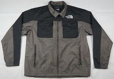 5f1361c33b Rare Vintage THE NORTH FACE Spell Out Zip Up Windbreaker Jacket 90s TNF  Gray XL