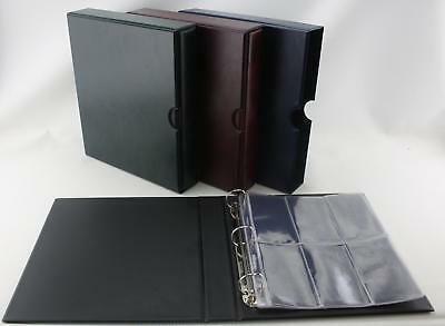 Classic 3 ring binder Album for Medal Storage 6 pocket Pages Various colours