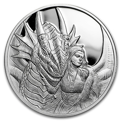 1 oz Silver Proof Round Anne Stokes Dragons (Friend or Foe) - SKU#169499