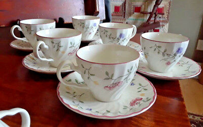 10 Johnson Brothers Summer Chintz 2 3/4 Coffee Cups & Saucers *Mint*