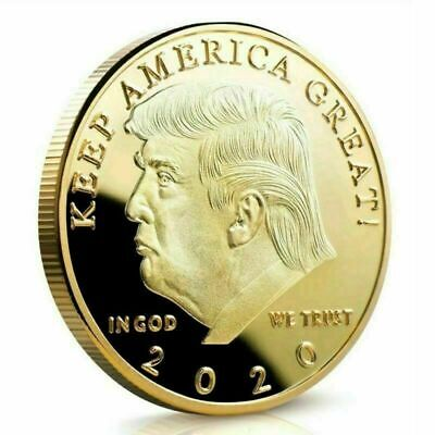 Donald Trump 2020 Gold Challenge Coin KEEP AMERICA GREAT 40 MM