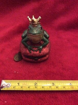 Frog Prince On A Pillow Hinged Trinket Jewelry Box - Katherine's Collection