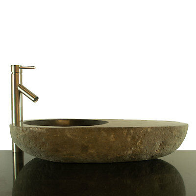 Big River Stone Vessel Sink with Soap Dish Bathroom Counter Top RSTDD-11