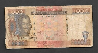 Guinee 1000 Francs Circulated Banknote 2006 Issued