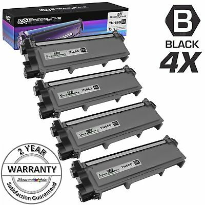 4pk TN660 for Brother TN630 Toner Cartridge High Yield HL-L2300D  MFC-L2700DW
