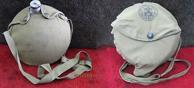 Vintage Boy Scouts Of America Canteen W/canvas Cover & Camping Mess Kit/cook Set