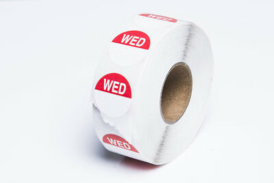 Wednesday Food Labels Hygiene Catering Labels Day Dot Full Week 1000 Stickers