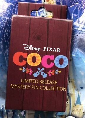 Disney Coco Limited Release Mystery Pin UNOPENED Box With 2 Pins LR NEW