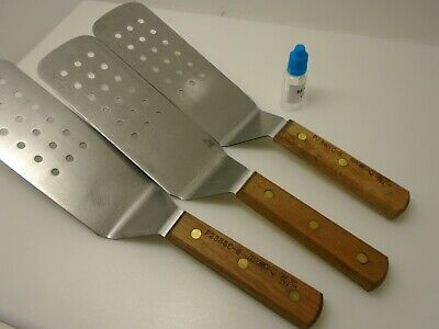 Dexter Lot of (3) P2386C-8 HIGH CARBON Steel Perforated Spatulas Pro Factory 2nd