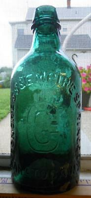 Green Pint Congress Empire Spring Saratoga New York Mineral Spring Water Bottle