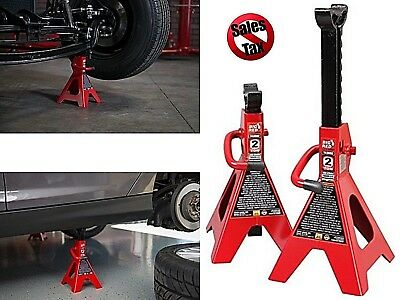 Steel Floor Jack Stands for Car Truck 2 Ton Heavy Lift Capacity Locking 4000 lb