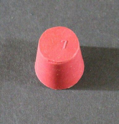 Rubber Stopper, Size #7, Red, Pack of 10