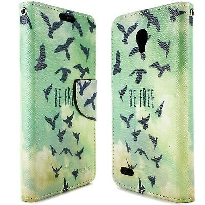 Wallet Pouch Phone Case for Alcatel One Touch Go Play / Conquest - Free Birds