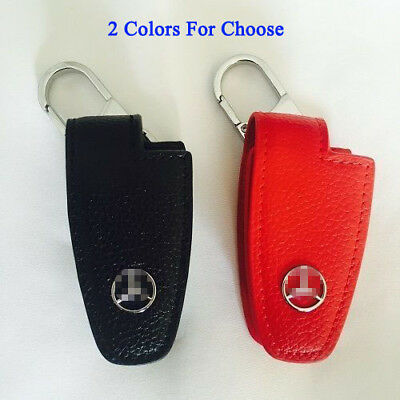 Genuine Leather Car key Holder Case Cover Fob Keyless Keyring For Mercedes Benz