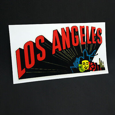 Los Angeles Vintage Style Travel Decal / Vinyl Sticker, Luggage Label