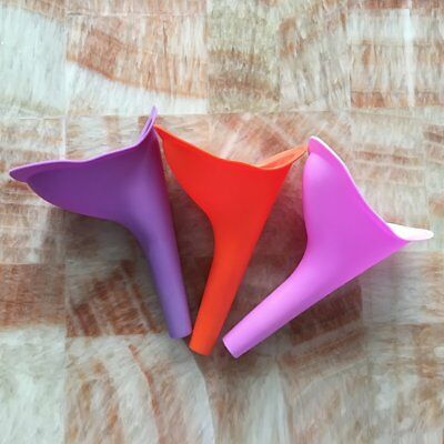 Outdoor Camping Travel Female Urinal Funnel Urination Device Silicone Useful