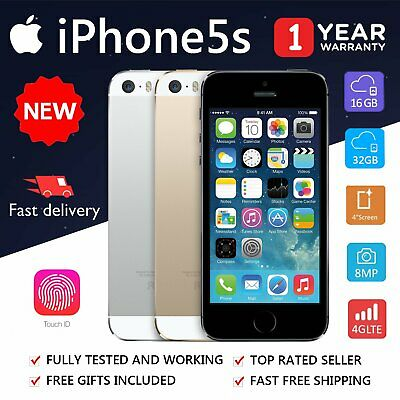NEW Apple iPhone 5S 16GB 32GB Gold Space Grey Factory Unlocked Smartphone AU