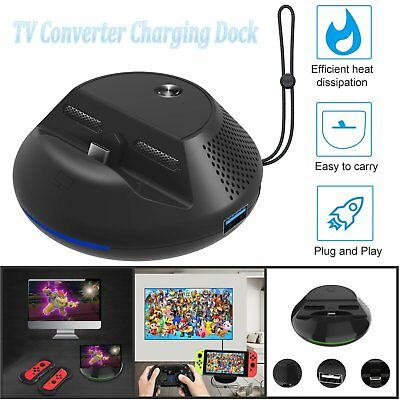 TV Switch Converter Adapter Charging Dock Station For Nintendo Switch Console