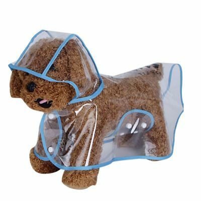 Cute Dog Mini Raincoat Pet Jacket Puppy Waterproof Coat Hooded for Outdoor