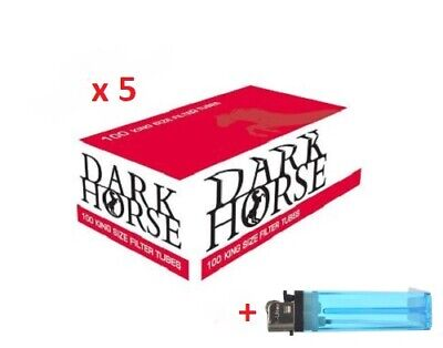 500 Full Flavour Dark Horse King Size Filter Tubes Empty Tobacco Cigarette
