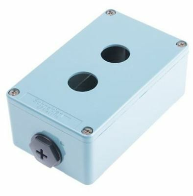 Schneider Electric Harmony XAP Push Button Enclosure, 2 Hole Blue, 22mm diameter
