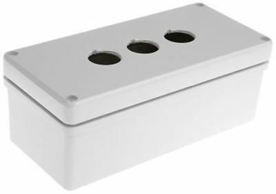 Eaton Push Button Enclosure, 3 Hole RAL7032, 22mm diameter Aluminium