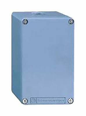 Schneider Electric Harmony XAP Push Button Enclosure, 0 Hole Blue None Metal