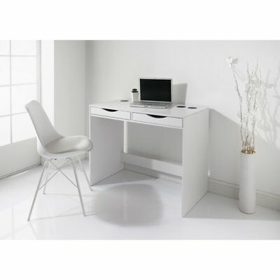 Koln Bluetooth White Desk With Two Drawers & 30W Speakers.