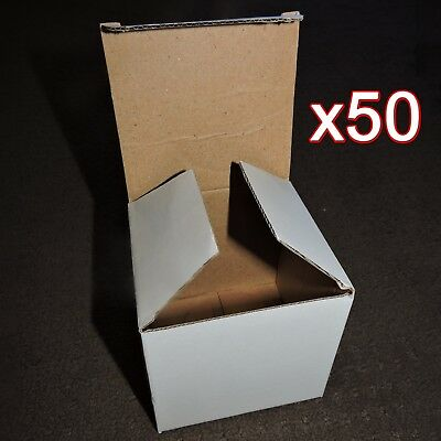 50x White Gift Boxes for 11oz Mugs - Sublimation Mug Box - Bulk 11x10cm - Craft