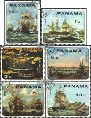 Panama 1063-1068 (complete issue) used 1968 Sailboats
