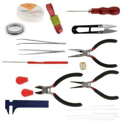 22x Jewelry Making Tools Kit Zipper Case for Jewelry Crafting Jewelry Repair