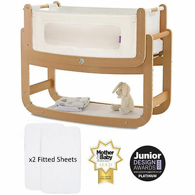 Snuz Snuzpod 2 3-In-1 Bedside Crib With Mattress & 2 Fitted Sheets From Birth