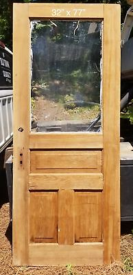 "32"" x 77"" Entry door with 3 raised panels pine antique door"