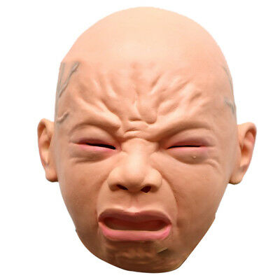 Cry Baby Full Head Rubber Latex Mask Halloween Party Masquerade Prop Costume New