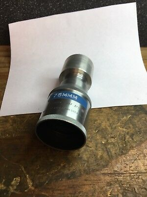 "16mm cine projection lens - Wollensak sunray 107,  3 in,  f/2,  3"" Eiki Elf Fit"