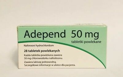 ADEPEND Naltrexone 50mg & 28tablets
