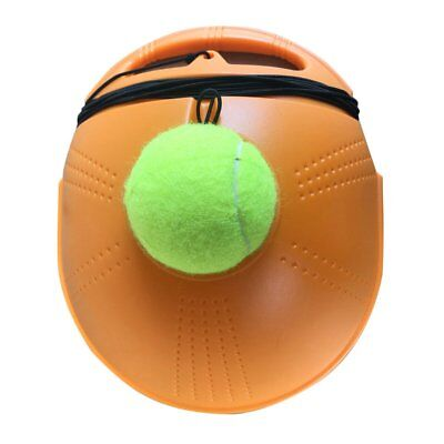 Tennis Ball Back Base Trainer Set with Long Rubber Elastic Rope Band AL
