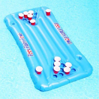 Inflatable Beer Pool Pong Float Table Raft Lounge Party Game 24 Cup Holder P6