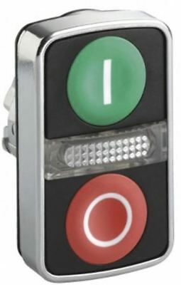 Schneider Electric Harmony XB4 Series, Green, Red Push Button Head, Spring Retur