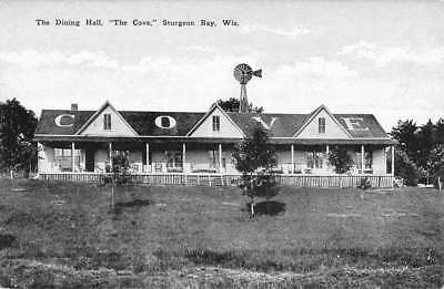 Sturgeon Bay Wisconsin Dining Hall The Cove Antique Postcard K102655