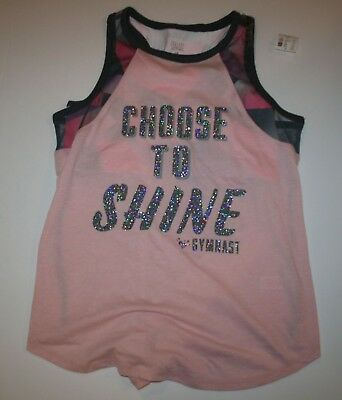1fd9b4ac7f New Justice Girls Athletic Sports Bra Attached Tank Top 18 year Choose To  Shine