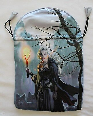NEW Witches Moon Satin Tarot Bag Lo Scarabeo